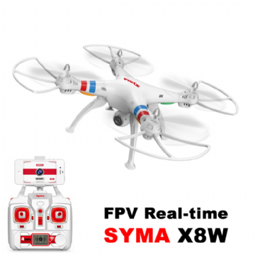 AMSYSX8W Syma X8W Wifi FPV Real-time 2.4G QuadCopter (HD CAM) White